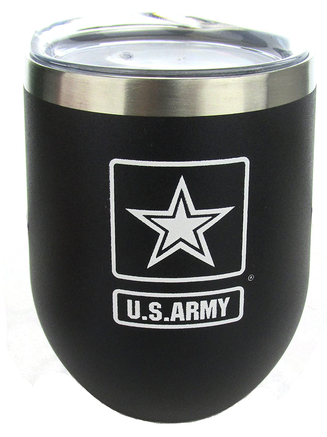 Army 12oz Stainless Steel Thermal Tumbler with Copper Vacuum U.S
