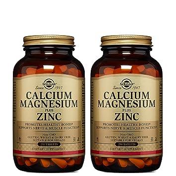 Solgar – Calcium Magnesium Plus Zinc, 250 Tablets, 2 Pack - Supports Bone Health