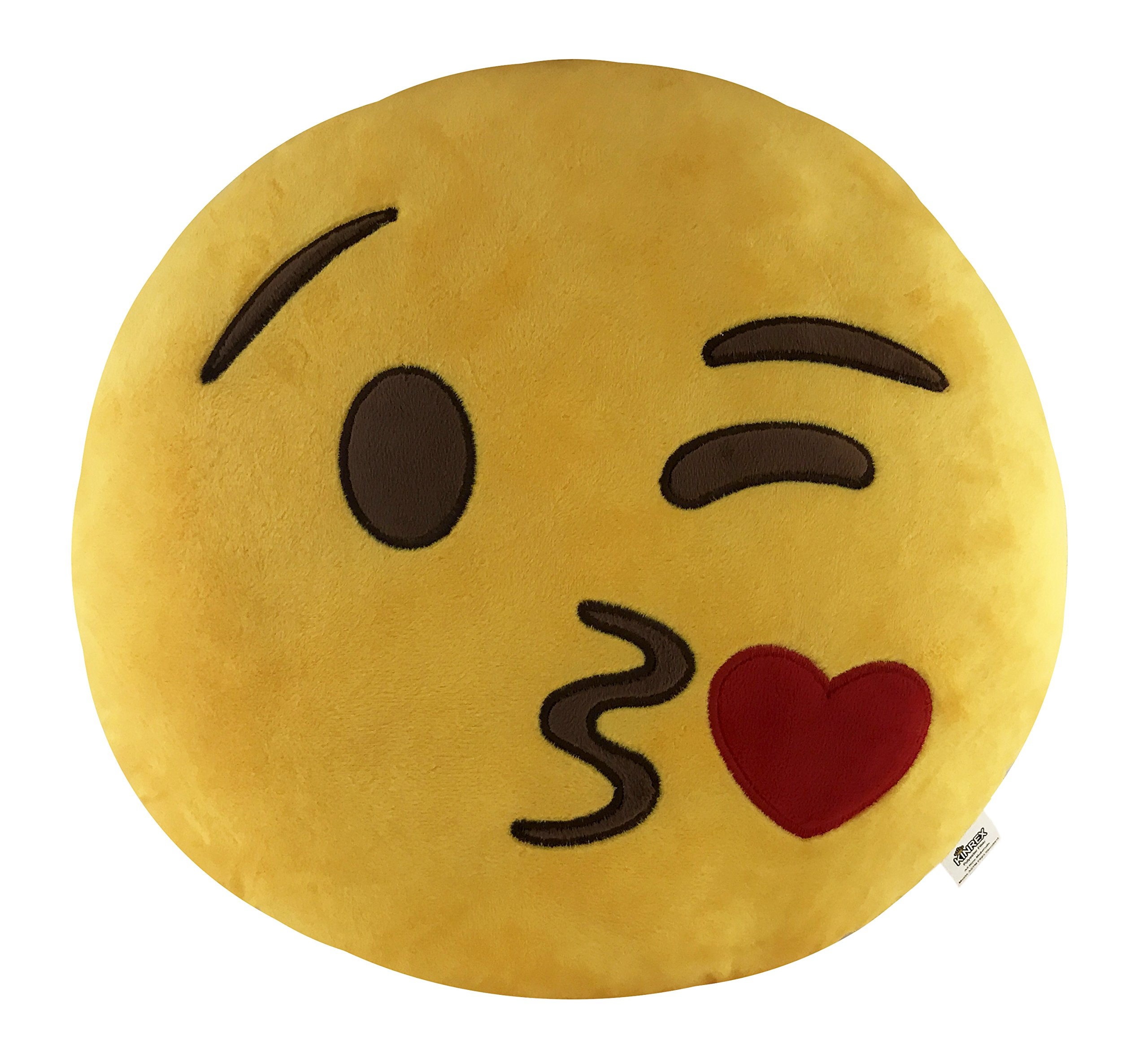KINREX Emoji Party Supplies - Blow Kiss Pillows - 35cm - Soft Decorative Huge Emojis Cushion/Pillow - Birthday Party Favors and Decorations - Gifts for Women, Kids and Adults