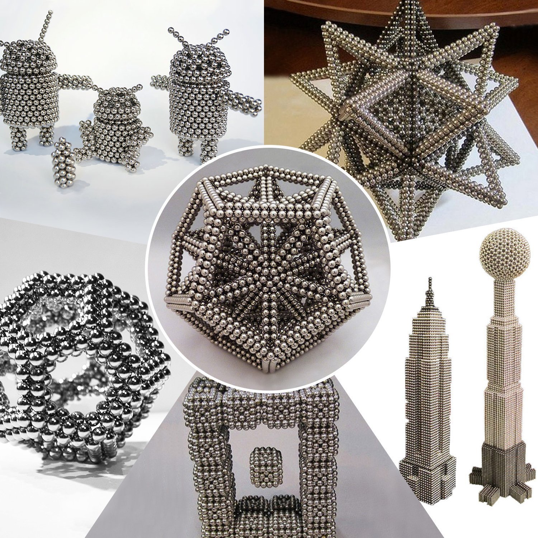Card Separator Balls Cube Gift Box Marsrut Magnetic Building Block Sculpture Stress Relief for Desk Fridge SIL