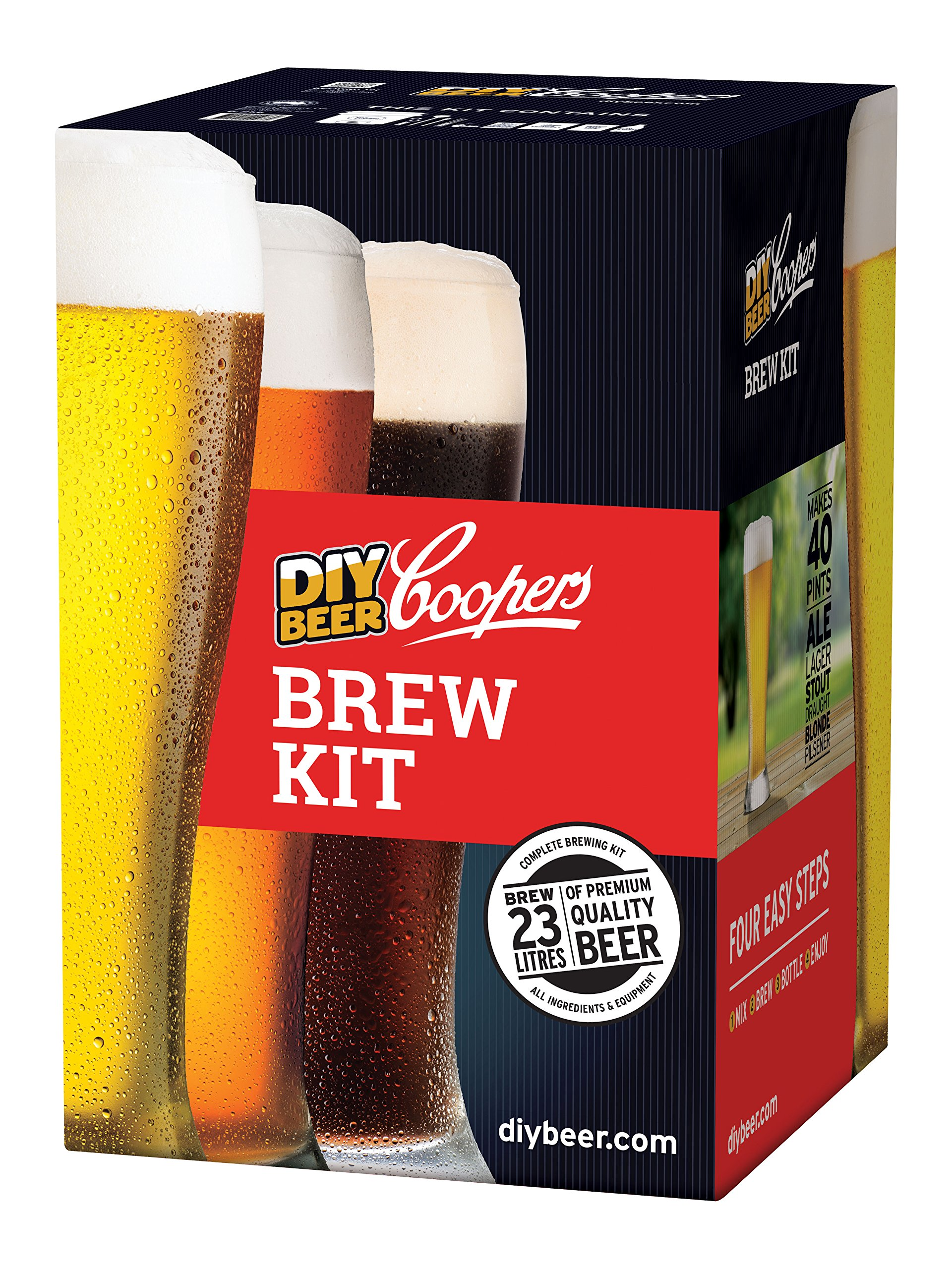 Coopers DIY Beer Home Brewing 6 Gallon All Inclusive Craft Beer Making Kit with Patented Brewing Fermenter, Beer Hydrometer, Brewing Ingredients, Bottles and Brewing Accessories by Coopers (Image #6)