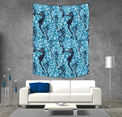 Amazon.com: Polyester Tapestry Wall Hanging,Animal Decor,Mosaic Tile ...