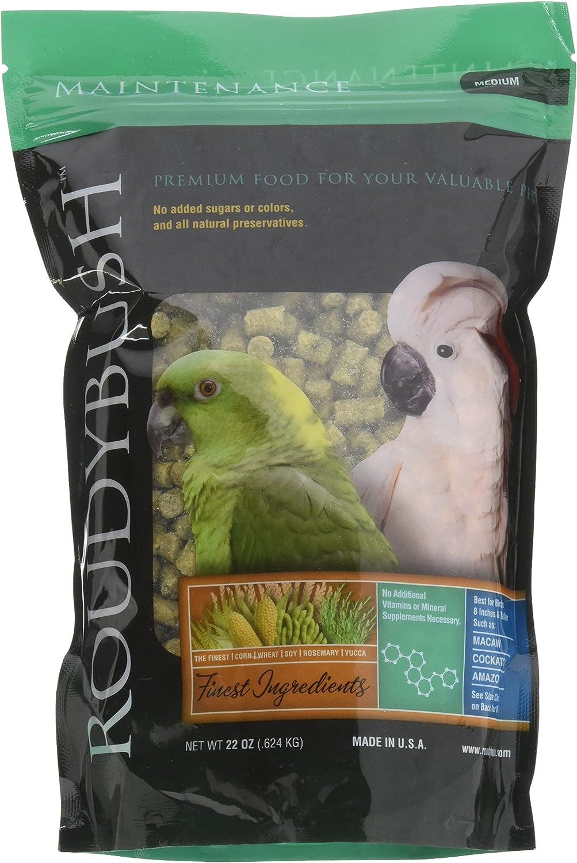 RoudyBush Daily Maintenance Bird Food, Medium, 22-Ounce, Green, 222MDDM