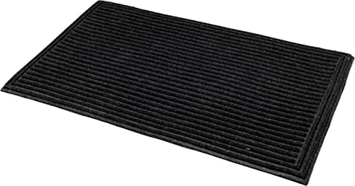 Fab Habitat Textured Stripe 24 x 36 Shoe Scraper Doormat, Durable