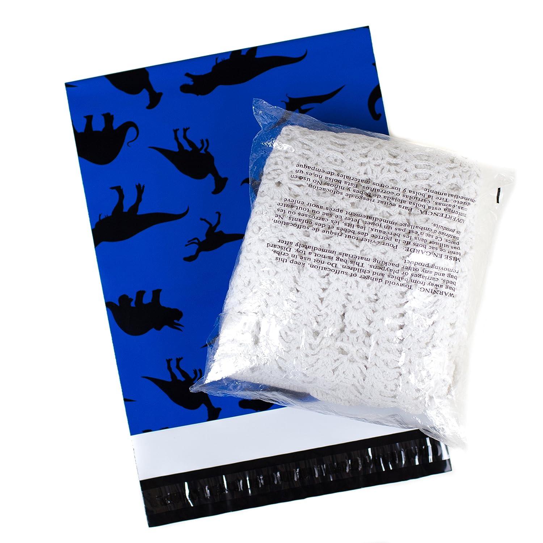 100 Printed Poly sobres 10 x 13 dinosaurios azul envío sobres de plástico bolsas de correo: Amazon.es: Oficina y papelería