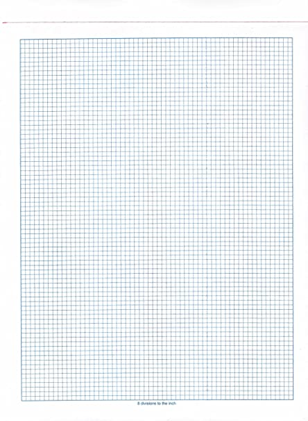 8 division graph paper ream
