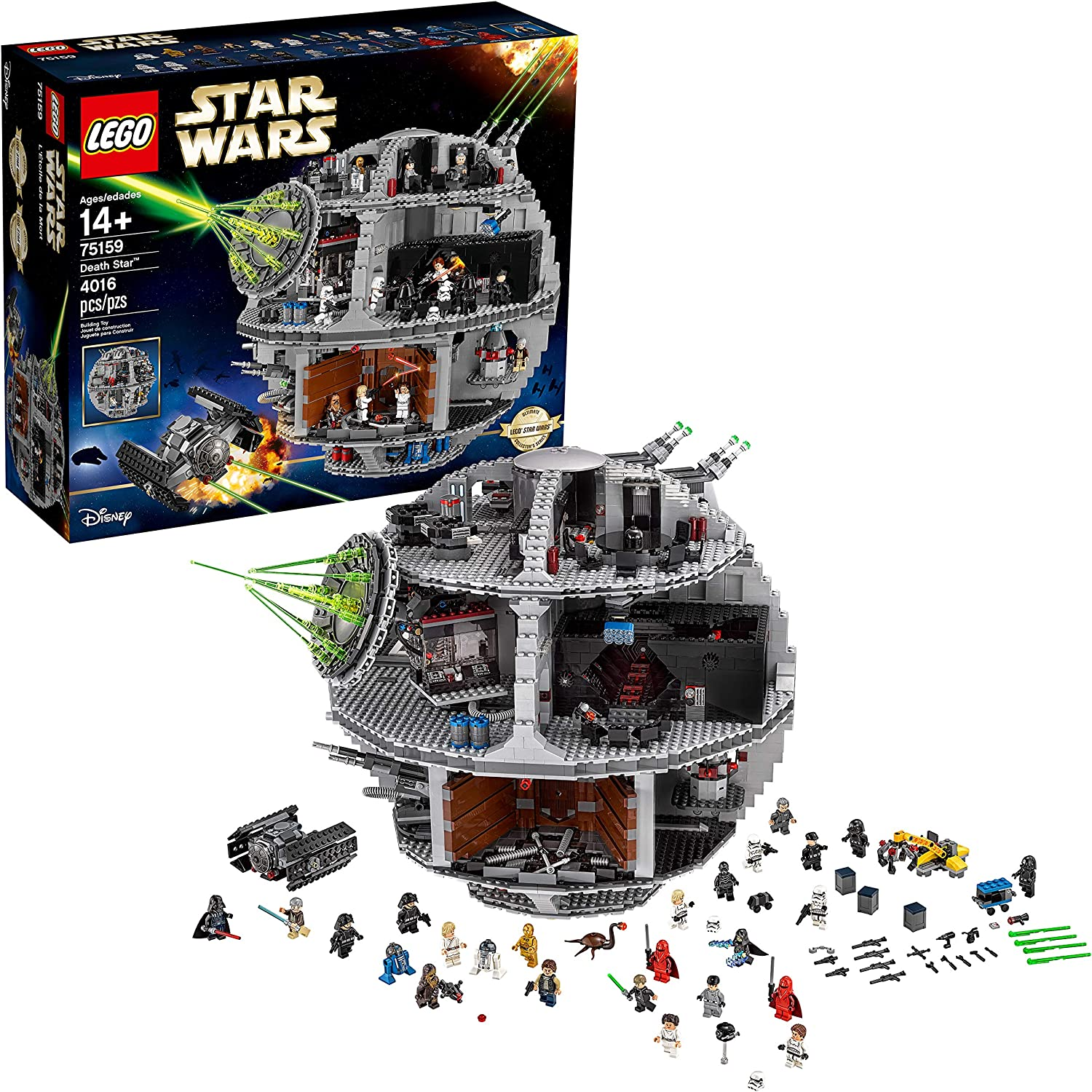 The Galactic Empire Throne Room Roblox Amazon Com Lego Star Wars Death Star 75159 Space Station Building Kit With Star Wars Minifigures For Kids And Adults 4 016 Pieces Toys Games