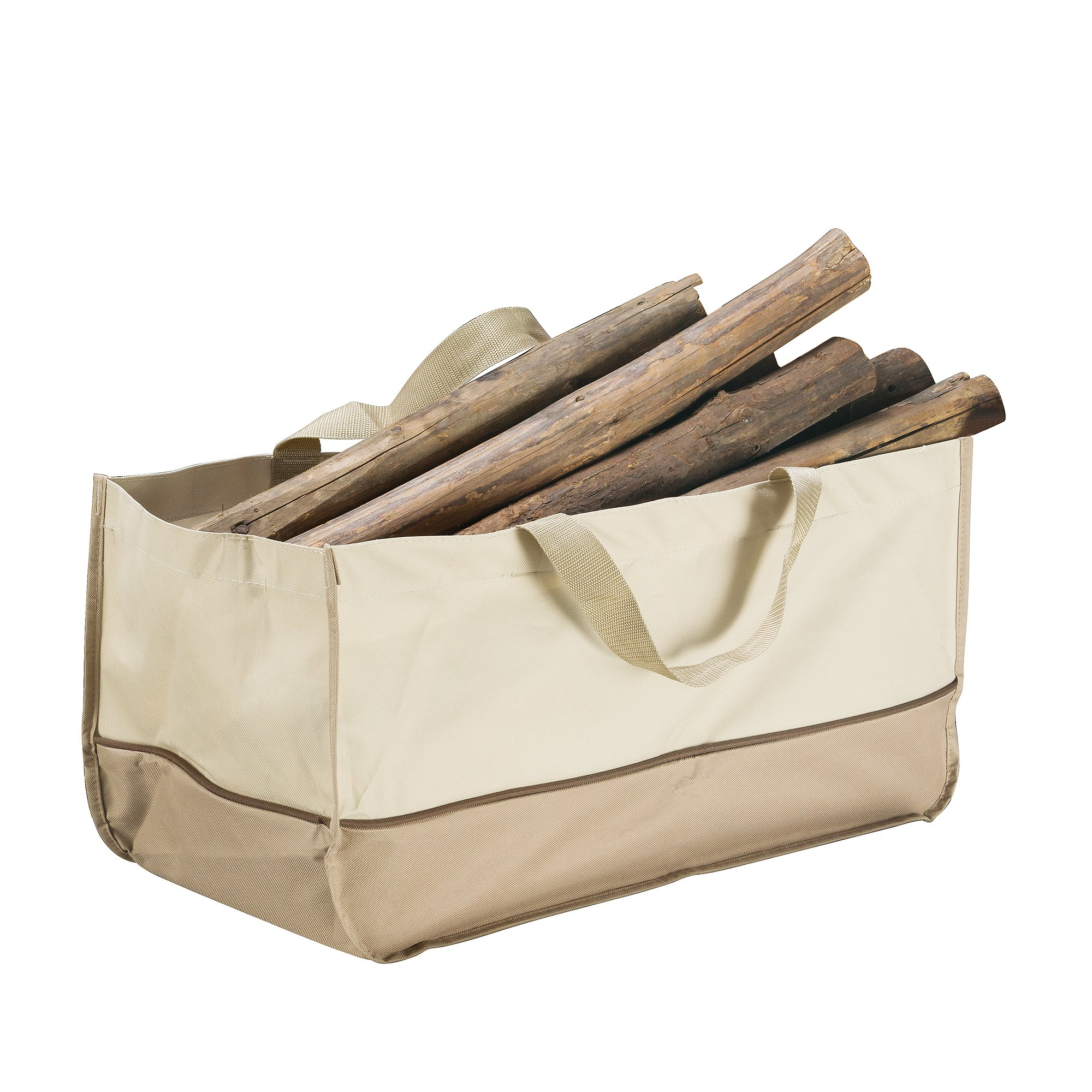 Great Northern 83-DT5800 Villacera Extra Large Log Tote Bag Beige and Brown