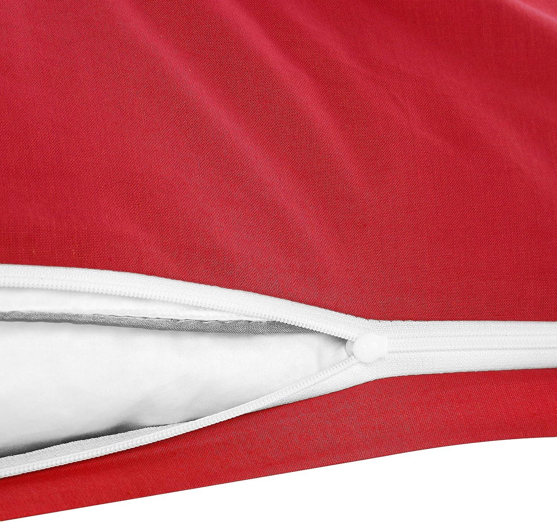 Basatex Confezione da 2 federe in Cotone Rinforzato 40 x 80 cm 100/% Cotone Anthrazit 40 x 80 cm in 8 Colori Moderni