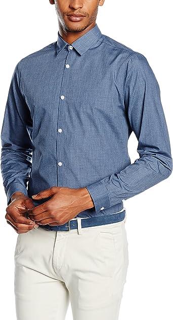 New Look Crossdye Camisa, Azul (Mid Blue), XX-Large para ...