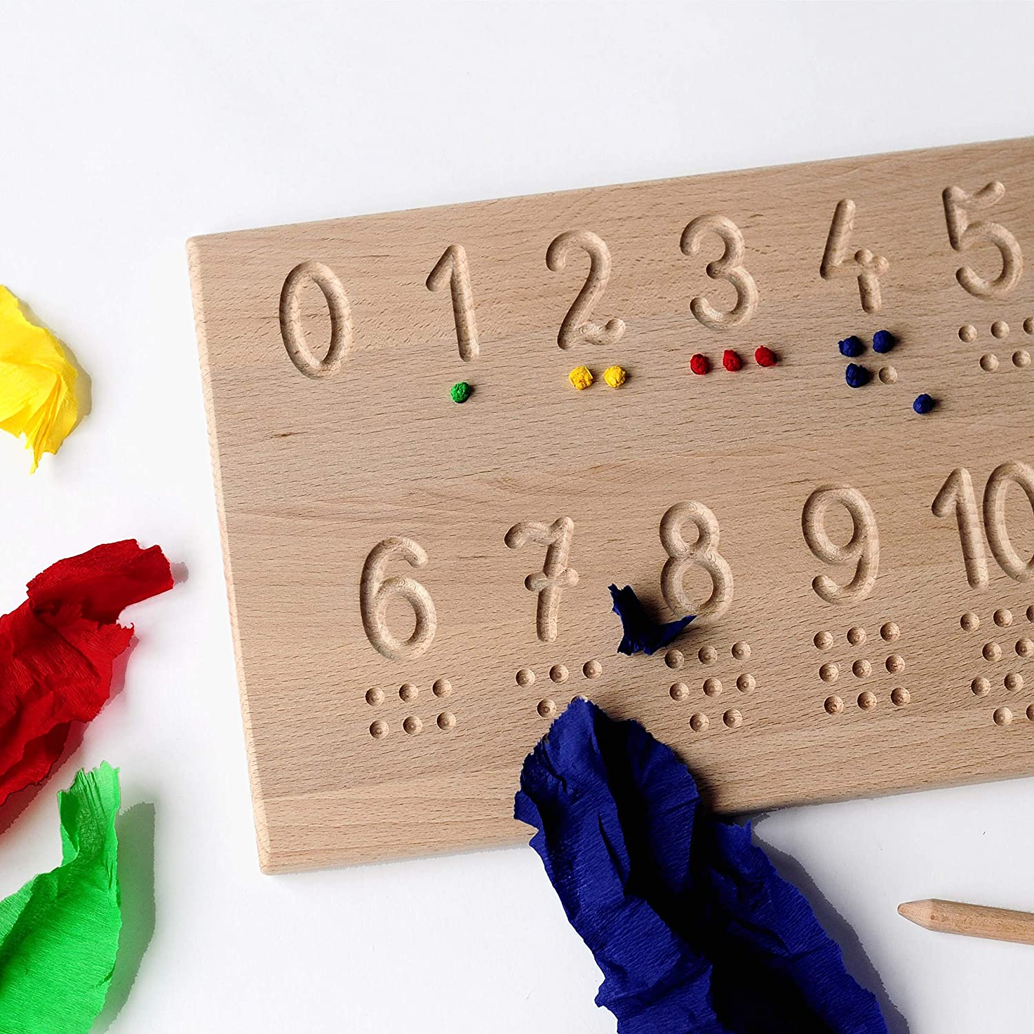 writing and counting learning Numbers tracing board educative toy