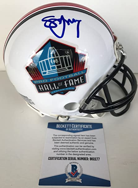 9bb6877e4b5 Image Unavailable. Image not available for. Color  HOF! Steve Young SAN  FRANCISCO 49ERS Signed HALL OF FAME Mini Helmet BECKETT BAS