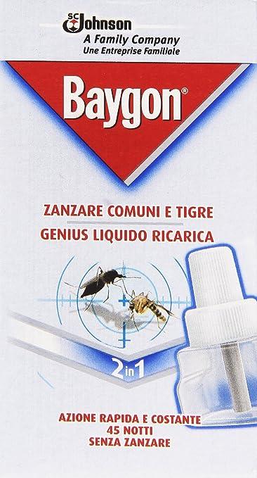 2 opinioni per Baygon Genius Liquido Ricarica, 1 pezzo