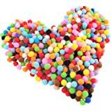 Craft Pom Poms for Craft Making,Hobby Supplies and DIY Creative Crafts Decorations,0.4 inch,2000 Pieces,Assorted Colors