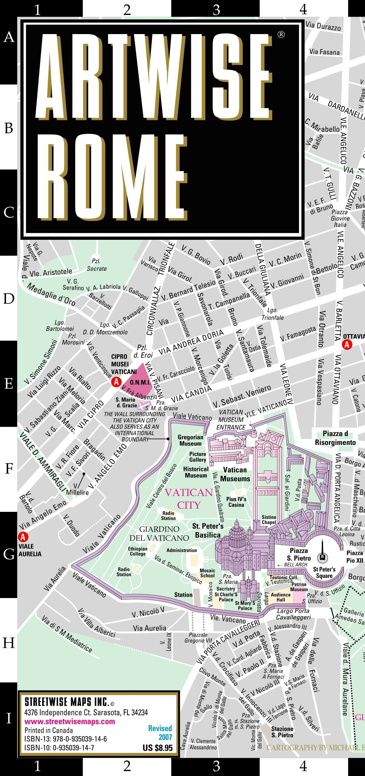 Read Online Artwise Rome Museum Map - Laminated Museum Map of Rome, Italy pdf