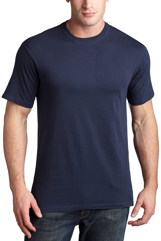 29ff6756 Hanes Classics Men's Comfort Cool Crew Neck T-Shirt, Navy, Large at Amazon  Men's Clothing store: Fashion T Shirts