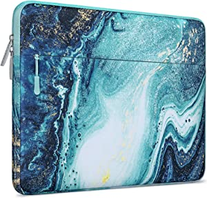 MOSISO Laptop Sleeve Compatible with 2020 2019 2018 MacBook Air 13 inch A2179 A1932, 13 inch MacBook Pro A2251 A2289 A2159 A1989 A1706 A1708, Polyester Horizontal Creative Wave Marble Bag