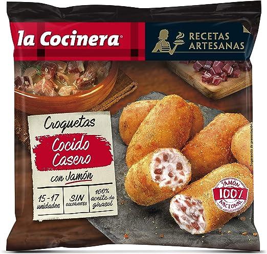 La Cocinera Recetas Artesanas - Croquetas de Cocido Casero con Jamón Serrano, 500 g: Amazon.es: Alimentación y bebidas