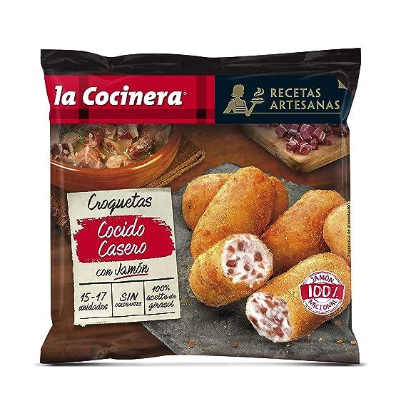 La Cocinera Recetas Artesanas - Croquetas de Cocido Casero con Jamón Serrano, 500 g
