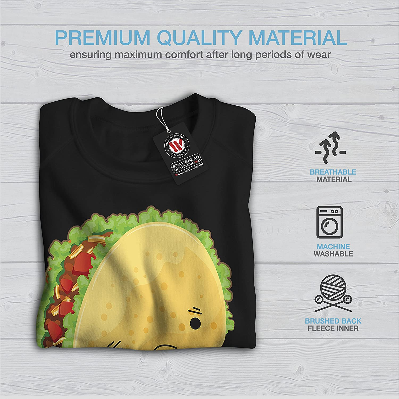 Funny Print Pullover Jumper Wellcoda Sad Taco Fall Apart Womens Sweatshirt