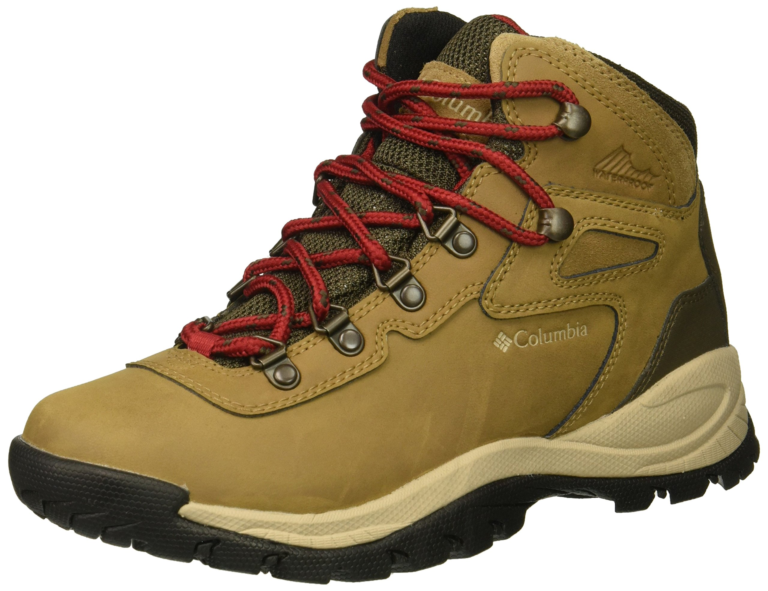 Columbia Women's Newton Ridge Plus Hiking Shoe, Delta, Red Velvet, 8 Wide US