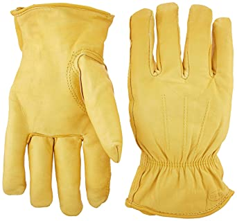 06103bfa56407 Image Unavailable. Image not available for. Color: Boss Gloves 6133J Cotton  Thermal Grain Cowhide Leather Driver, Jumbo