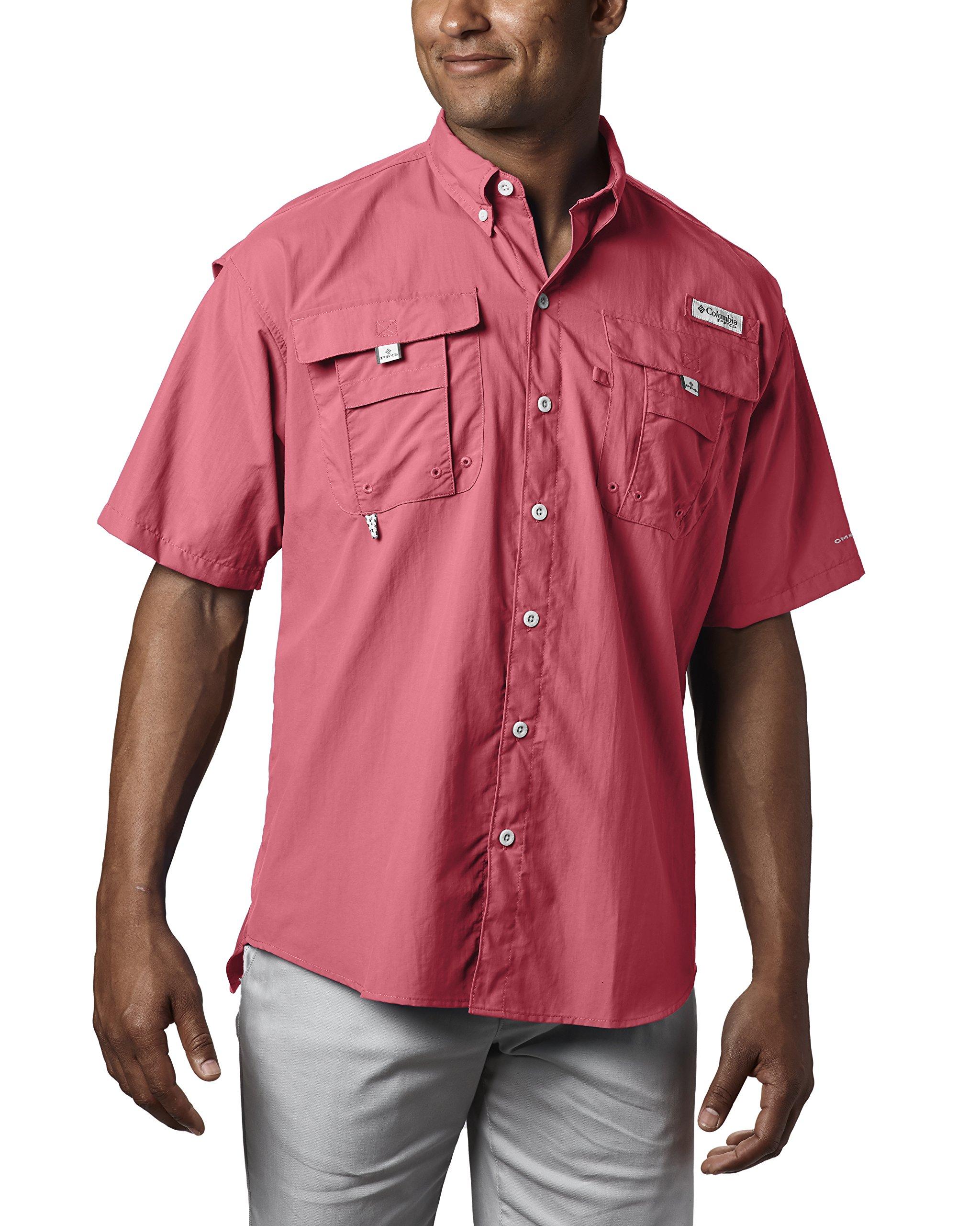 Columbia Men's Bahama II Short Sleeve Shirt, Sunset Red, 3X