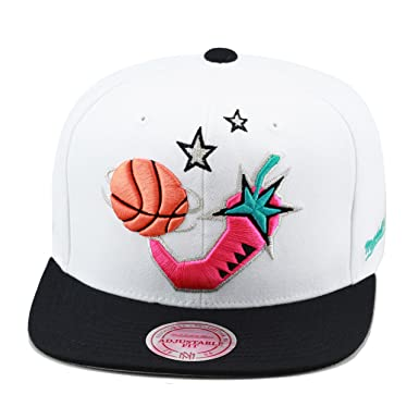 8cfd4dcf183 Mitchell   Ness NBA All Star Game 1996 Snapback Hat White Black Pink ...