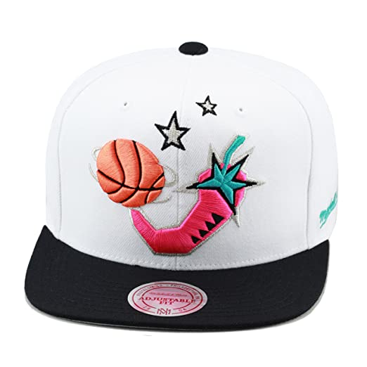ba4110070e7 Mitchell   Ness NBA All Star Game 1996 Snapback Hat White Black Pink ...