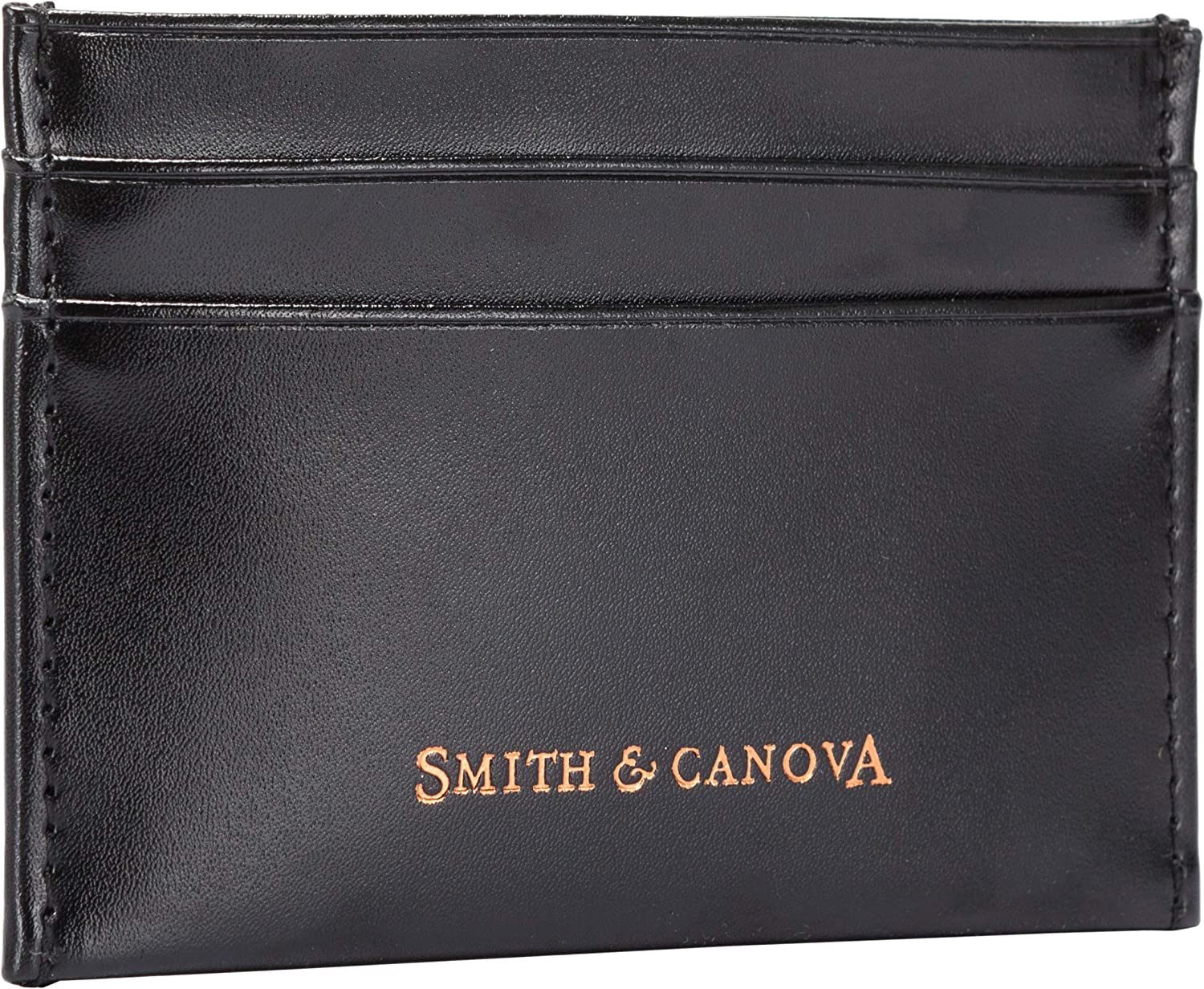 Smith /& Canova Mens Designer Gift Boxed Black Leather Card Wallet 21501