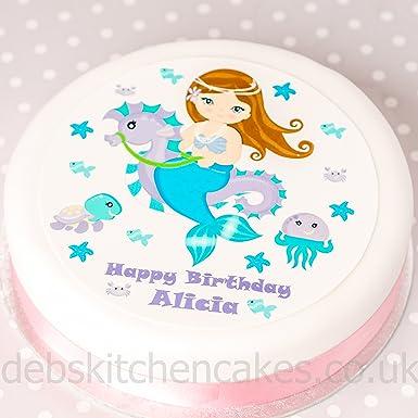 Mermaid Cake Decoration Personalised Mermaid Cake Topper Edible