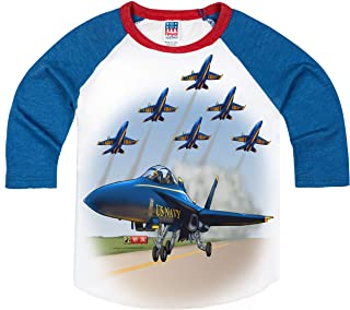 product image for Shirts That Go Little Boys' Airshow Jets Raglan T-Shirt