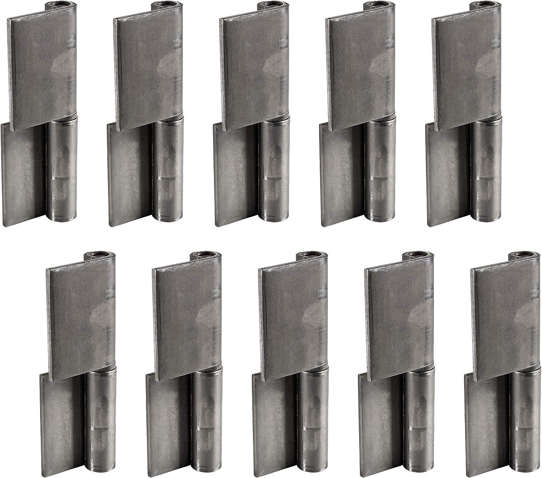Gedotec T/ürscharnier zum anschwei/ßen Anschwei/ßband f/ür Metall-T/üren DIN Rechts Anschwei/ßscharnier H/öhe 80 mm 2 St/ück T/ürbander f/ür Stahl-Tore Schwerlast-Scharnier f/ür Gartentor /& Maschinen