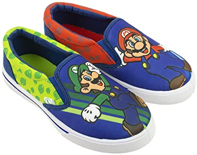 4f91237900 Super Mario Brothers Mario   Luigi Boys Shoes