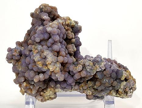 b13ec4f1dd 5.3  quot 1.4lb botroidal morado Calcedonia naturales ágata de uva Crystal  Cluster raras Bubbly