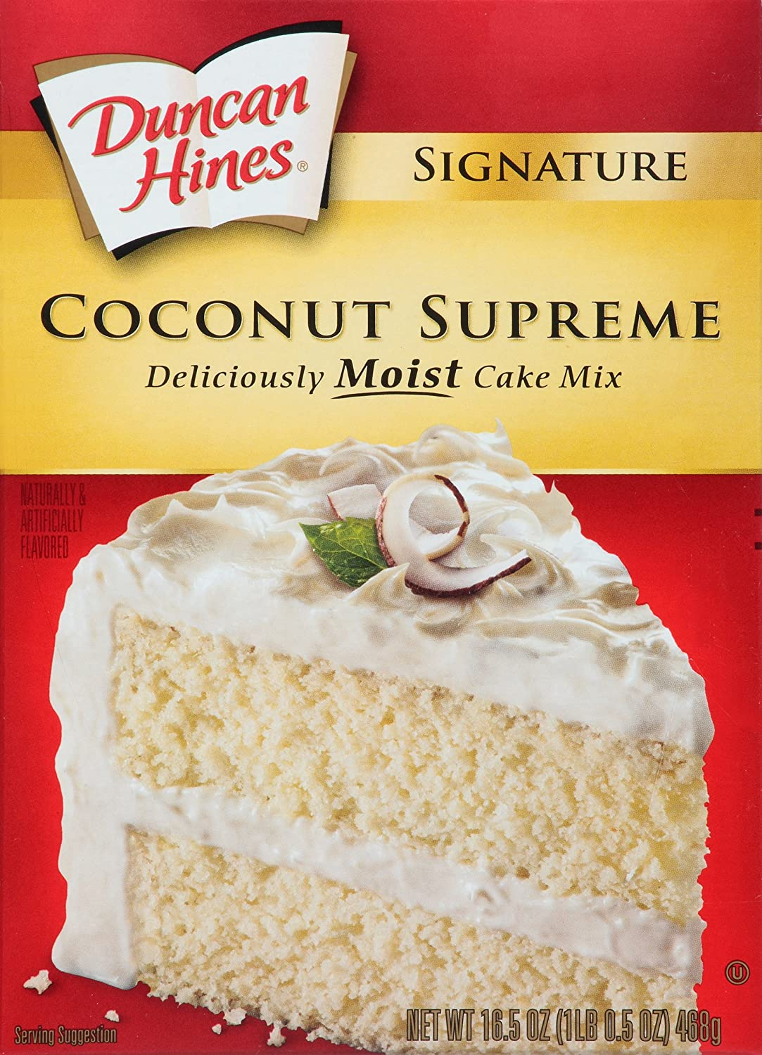 Duncan Hines Signature Cake Mix Coconut Supreme 16 5 Ounce Pack Of 12 Com Grocery Gourmet Food