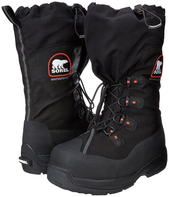 1a7dfd60fe6 Sorel Men's Intrepid Explorer Extreme Snow Boot,Black/Red