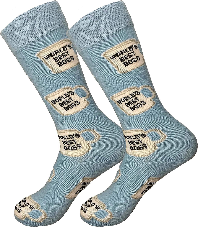 Balanced Co. World's Best Boss Dress Socks Michael Scott Funny Socks Crazy Socks Boss Socks