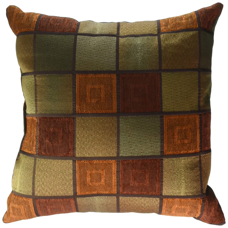 Brentwood Originals 8685 Window Pane Toss Pillow, 18-Inch, Rust