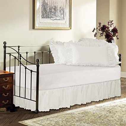Day Bed Eyelet Bed Skirt with 18