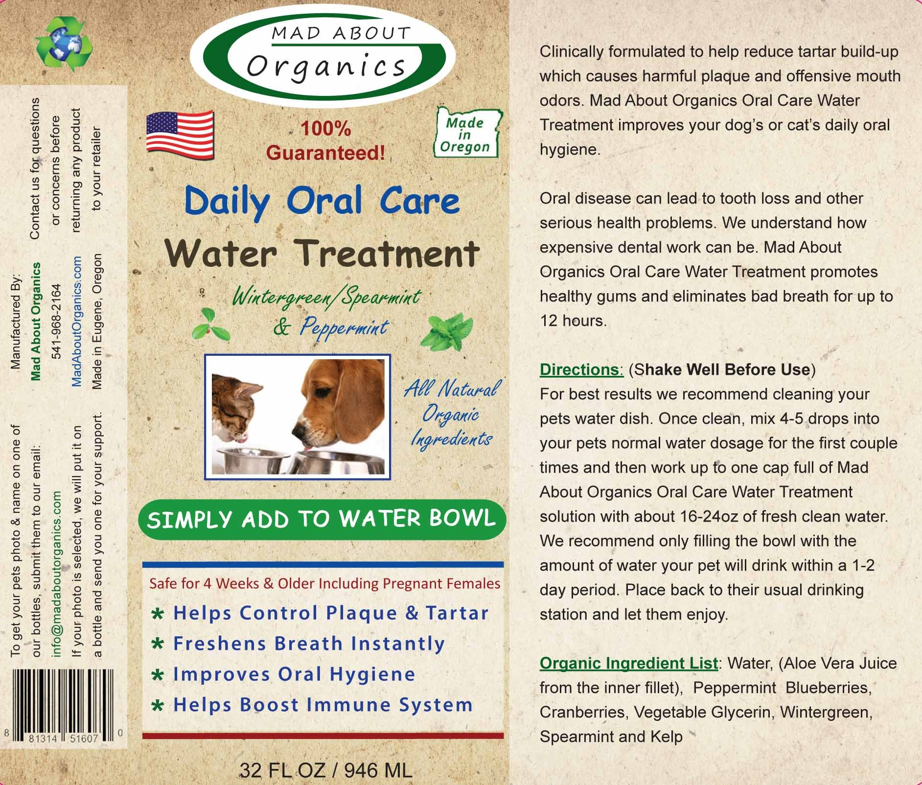 Mad About Organics All Natural Dog & Cat Daily Oral Care Liquid Plaque & Tartar Remover 32oz by Mad About Organics (Image #2)