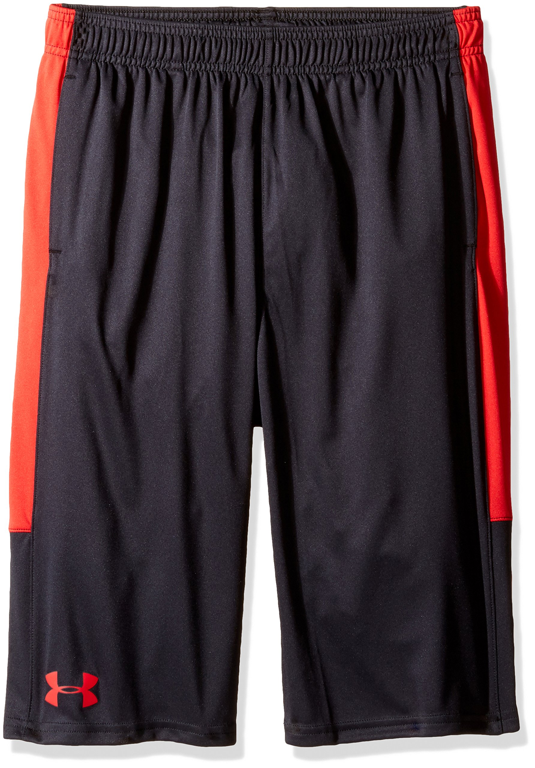 Under Armour Boys Instinct Shorts,Black /Red Youth Large by Under Armour