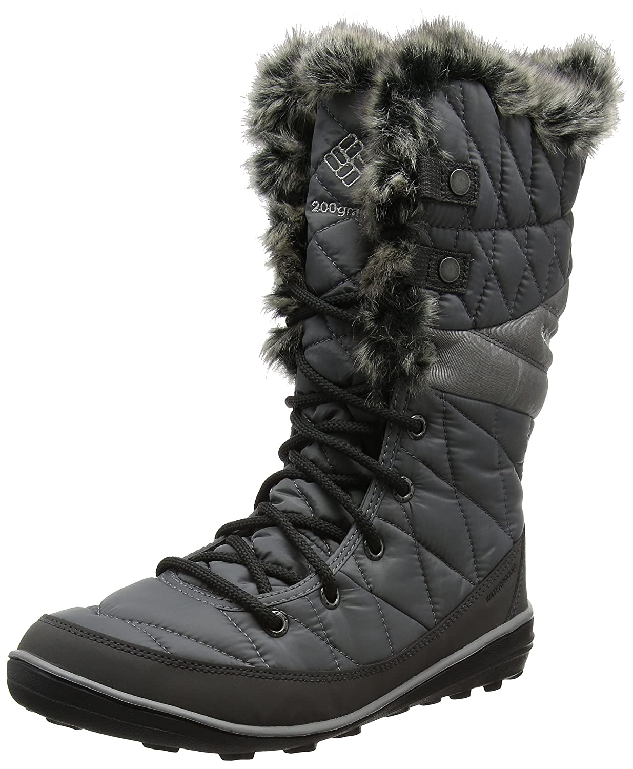 Columbia Women's Heavenly Omni-Heat Mid Calf Boot B0183M038U 8 B(M) US|Quarry