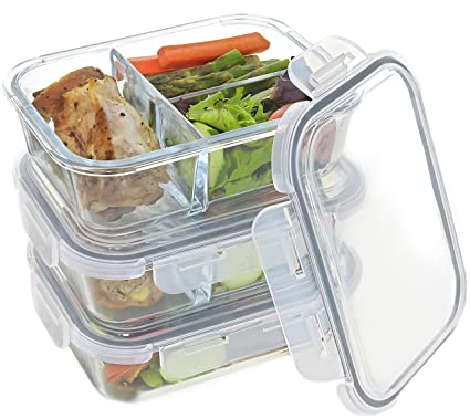 Glass Meal Prep Containers VARIETY Pack - Food Storage Containers with Locking Lids and Extra-  sc 1 st  Amazon.com & Amazon.com: Glass Meal Prep Containers VARIETY Pack - Food Storage ...