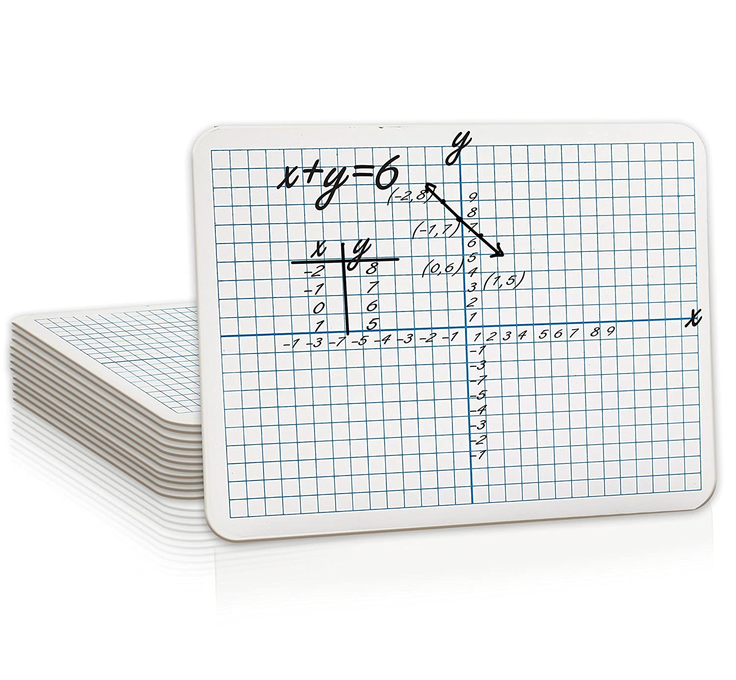 "12 Pack Dry Erase XY Axis Lap Board 9""X12"" 