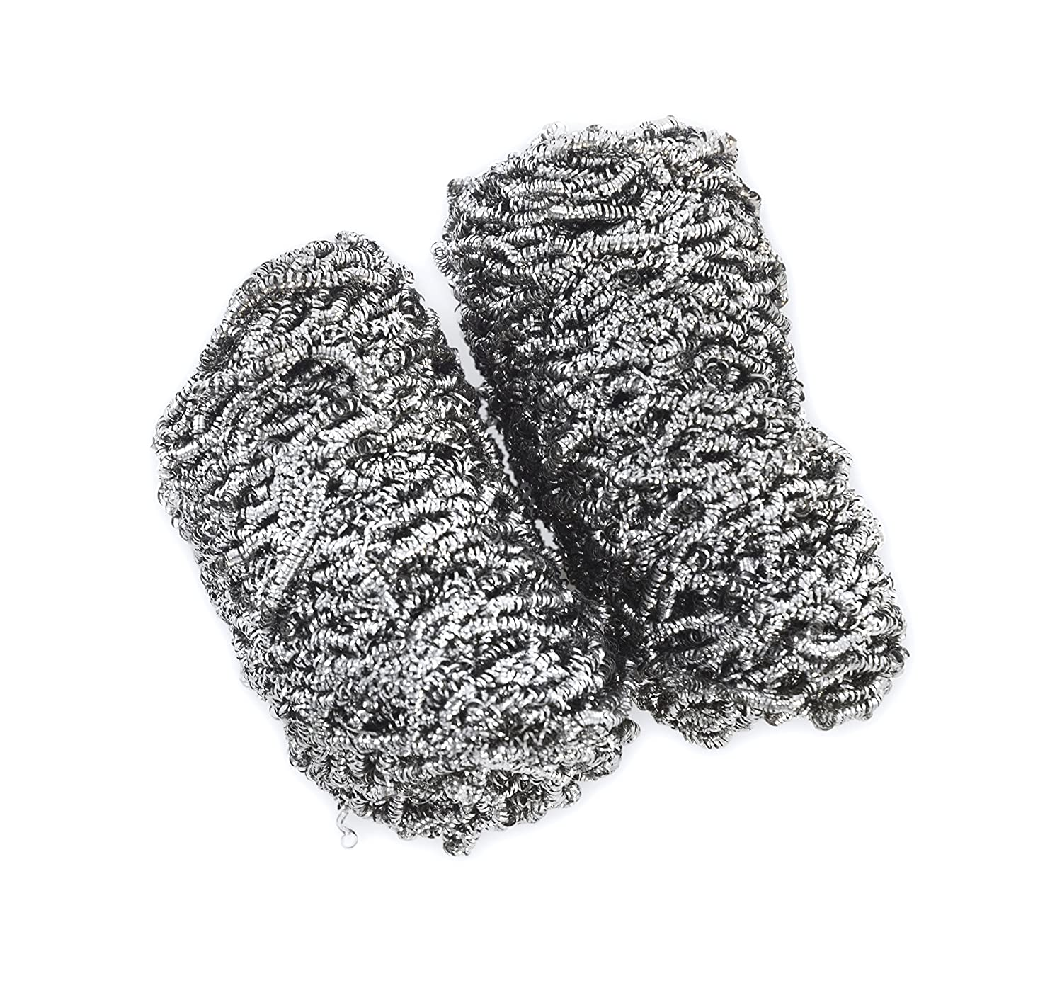 Charcoal Companion CC4105 Stainless Grill Ware Scrubbers - Silver (Set of 2) The Companion Group