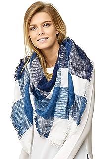 afe14eff4b9512 JillyMode XXL Damen Schal Winter Dick Warm und weich viele schöne Mustern