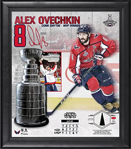 f91c1bcd6 Alex Ovechkin Washington Capitals Framed 15 quot  x 17 quot  2018 Stanley  Cup Champions MVP Collage