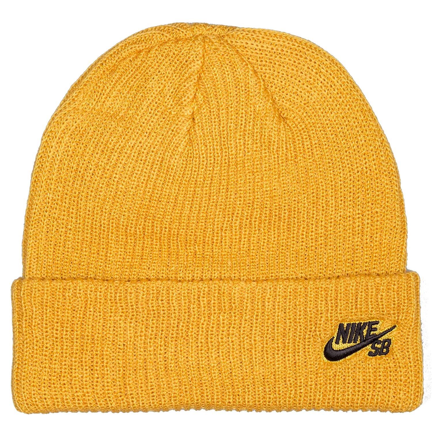 fd8a8489 Nike SB Fisherman' Beanie. Mineral Gold/Black.: Amazon.co.uk: Clothing