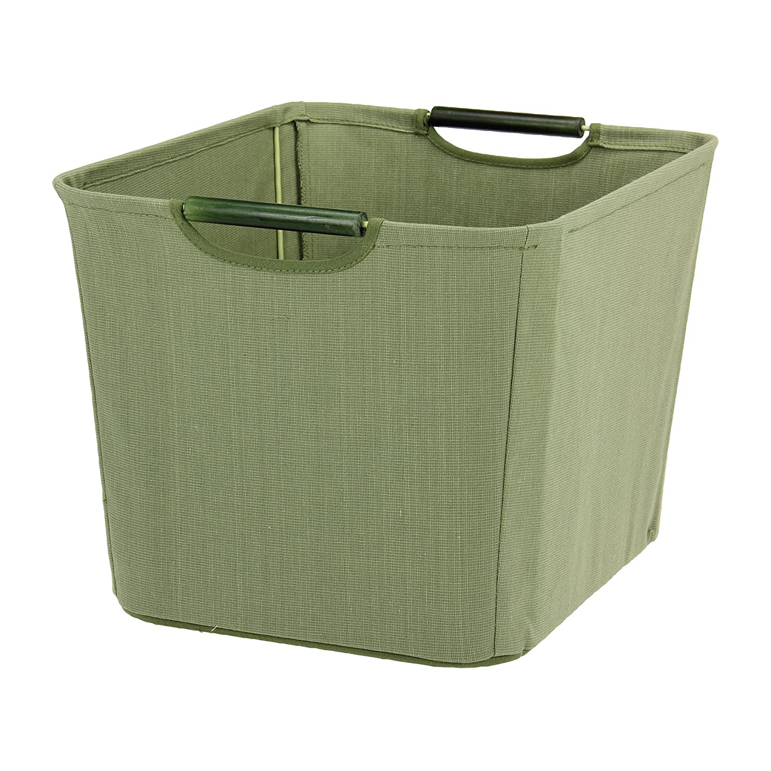 Amazon.com Household Essentials Open Tapered Bin with Wood Handles Medium Green Home u0026 Kitchen  sc 1 st  Amazon.com & Amazon.com: Household Essentials Open Tapered Bin with Wood Handles ...